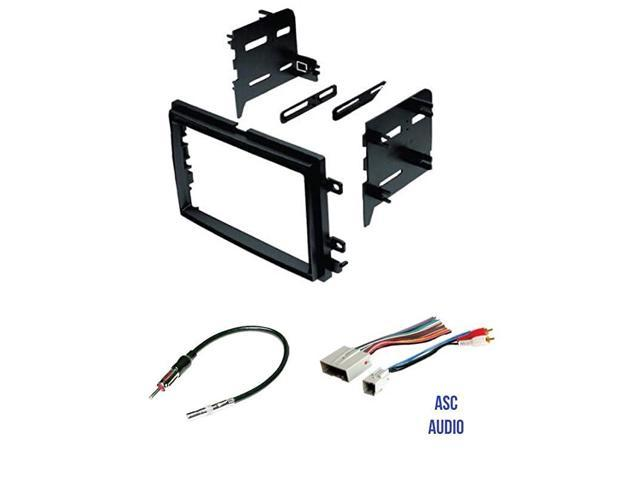 ASC Car Stereo Radio Install Dash Kit and Antenna Adapter for installing an Aftermarket Double Din Radio for 2009-2010 Kia Optima and 2009-2014 Kia Sedona Wire Harness