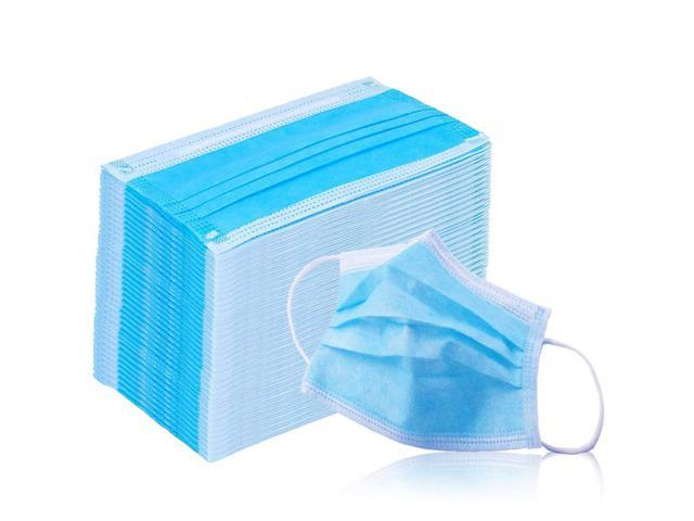 Face Mask with Earloops -100 Pc- Disposable-Hypoallergenic-Protect Yourself from Dust, Germs and Pollen – Ideal for Medical, Surgical, Catering and Construction Workers-Blue JS-DI114
