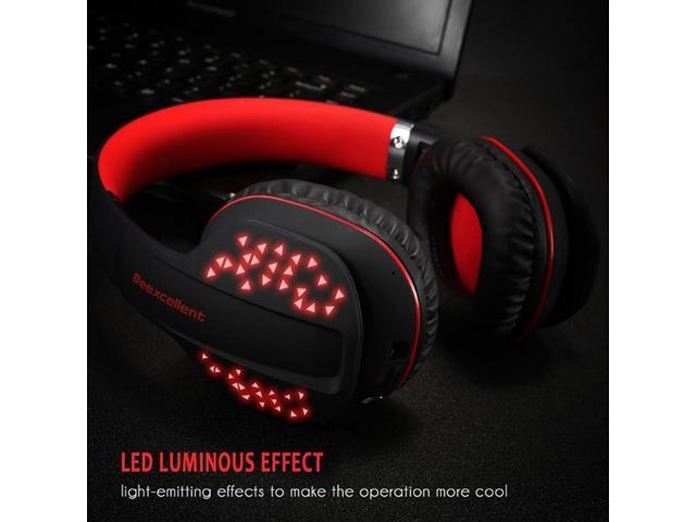Stereo Earphone Led Wireless Bluetooth Gaming Headset With Mic For Ps4 For Xbox Newegg Com