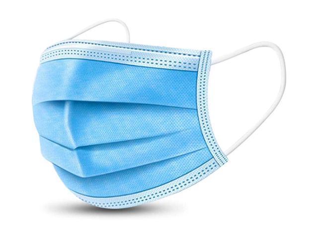 50 pcs Disposable Face Masks, 3-ply Breathable Dust Protection Masks, Elastic Ear Loop Filter Mask Tie-on Earloop/Elastic Earloop, Random Shipping