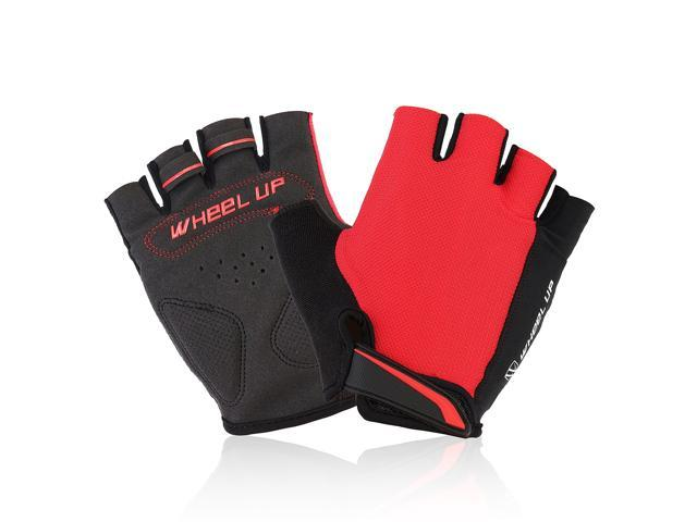 Universial Motorcycle Riding Half Fingers Fingerless Gloves Size M Red
