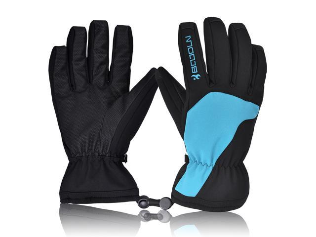 Motorcycle Winter Gloves Waterproof Warm Skating Outdoor Sport Windproof Blue/L
