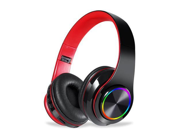 Isolation Full Roblox Id Portable Wireless Headphones Bluetooth Stereo Foldable Music Headset Audio Mp3 Strong Bass Adjustable Earphones With Mic Black Red Newegg Com