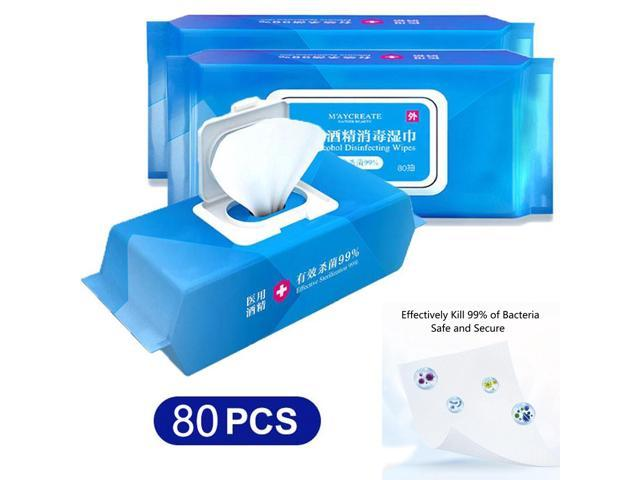 Medical Alcohol Handi-Pack Disinfecting Wipes Antibacterial Detergent Wipes, Antiseptic Detergent Sterilization Sanitizing Wipes (80pcs)