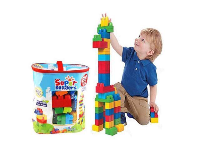 Diy Blok Pembelajaran Binaan Permainan Kanak Kanak Super Mega Builders Large Block Building Blocks Kids Toys 88 Pieces Newegg Com