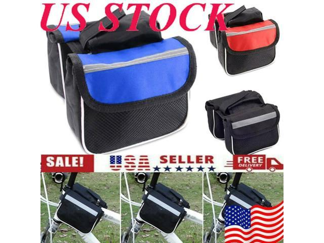 Mountain Bike Pannier Pouch Front Tube Frame Double Bag For Sport Cycling Kits