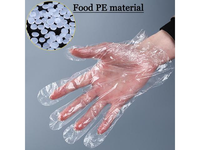 100PCS Polyethylene Food Service Disposable Gloves (Vinyl Nitrile Latex Free) US
