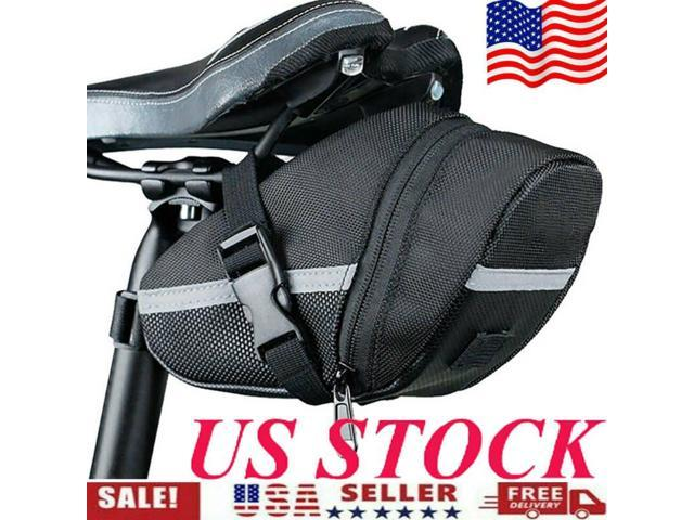 MM Waterproof Bicycle Saddle Bags Reflective Cycling Seat Tail Bag,Seatpost Pouch Bike Outdoor Accessories Blue