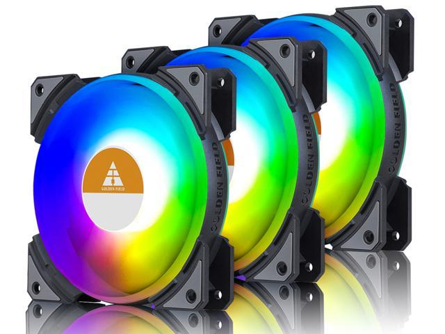Vicabo RGB 120mm Quiet Light Loop RGB LED PWM Case Fan PC - Sale: $28.4 USD (5% off)