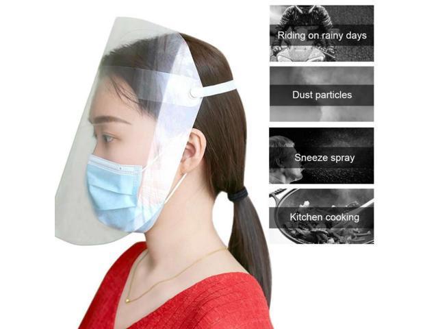 5x Clear Plastic Transparent PET Mouth Reusable Shields Kitchen Oil Protection