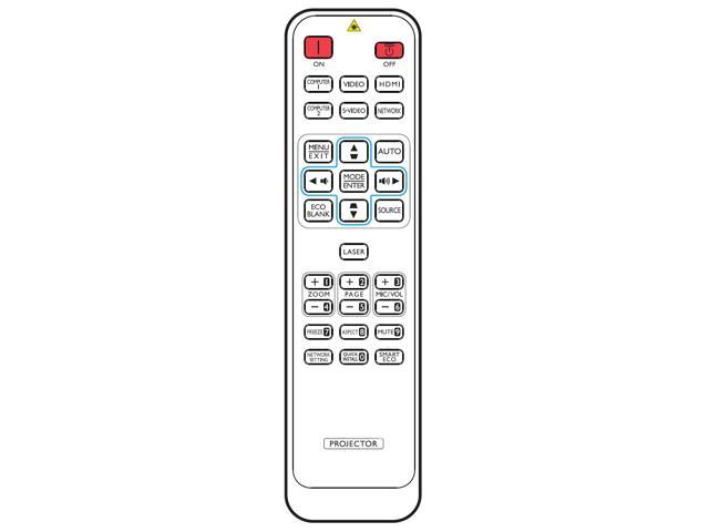 Replacement Remote for BENQ MX822ST Projector White