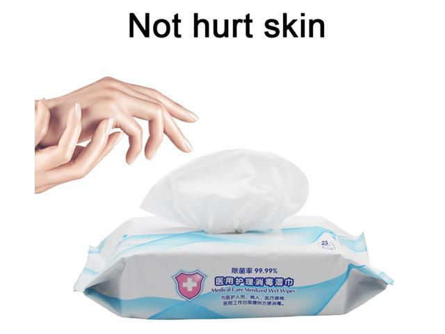 Hand Wet Wipes Alcohol-free Sterilizer Disinfection Pre-moistened Household Protective Moist Non-woven Fabrics Anti-bacterial Cleaning Towelettes 25 Wipes - Kill 99.9% of Harmful Substance