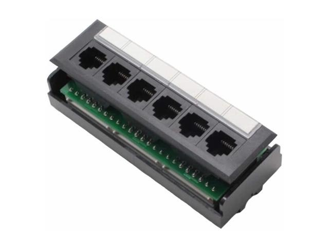 Yankok Cat5 Cat5e 6 Port Replace Patch Panel Unshielded With Coded T568a B Ethernet Wiring Diagram For 12 24 48 Port Cat5 5e Patch Panels To Replace