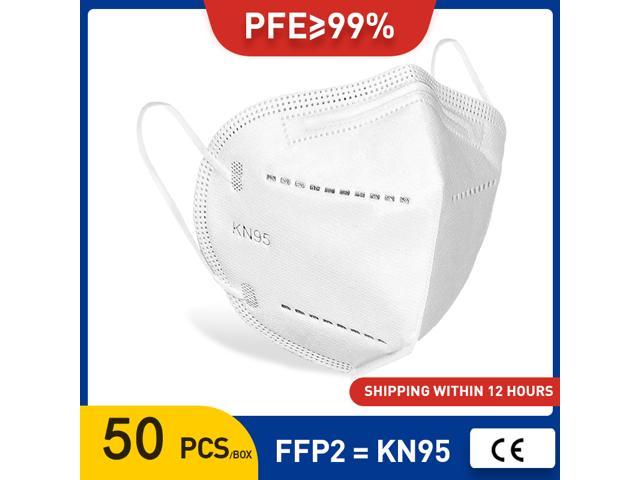 Face Masks N95 50 pieces KF95 Face Mask Strong Anti-fog Protector Mouth Mask reused Masks anti-PM2.5 anti-smoke, anti-fog, anti-virus Respirator Filter Anti-dust Mask Mouth Mask Filter