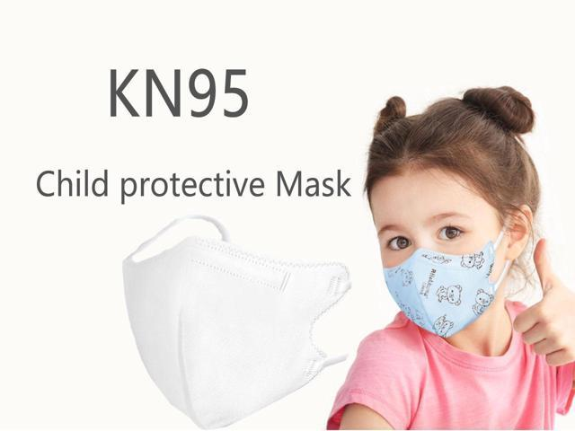 10pcs KN95 Child Mask Protective Kids Mask AS N95 Protective Anti Covid-19 Virus 5-Layers Nonwoven Fabrics Protective Facemask For 3-12 Years Old Children Mask