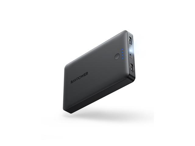 RAVPower 16750mAh Portable Charger USB External Battery Pack with High Speed Dual Ports & Flashlight Ultra Compact Portable Phone Charger Compatible