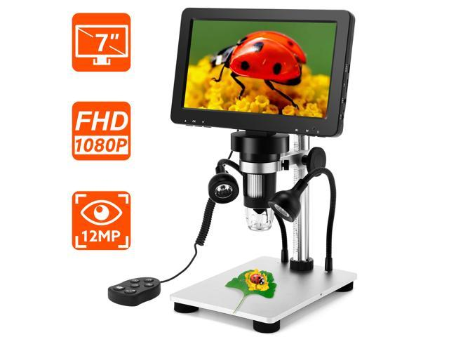 7 Inch 1080p Lcd Digital Microscope With Wired Remote,1200x - Sale: $86.69 USD