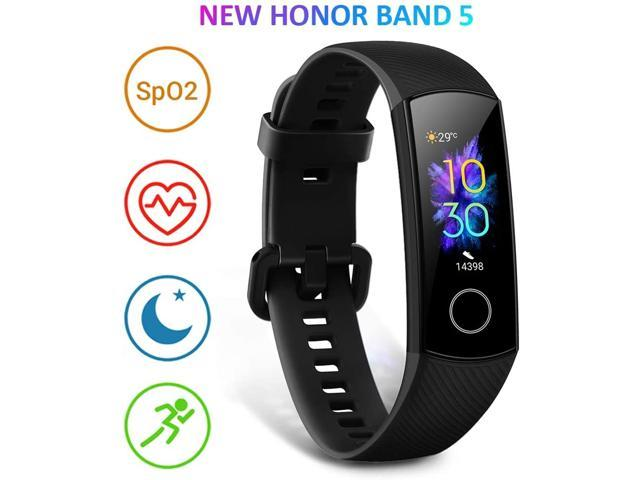 HONOR Band 5 Fitness Tracker Activity Tracker with SpO2 Monitor Heart Rate and Sleep Monitor Calorie Counter Pedometer Step Tracker Bracelet for Men Women Kids Black