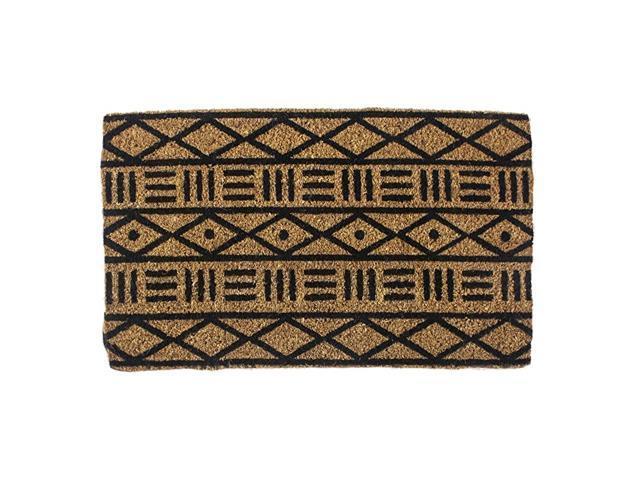Mud Cloth Hand Stenciled All Natural Coconut Fiber Coir Doormat 18 Quot X 30 Quot X 75 Quot 18 Quot X 30 Quot Mud Cloth Newegg Com
