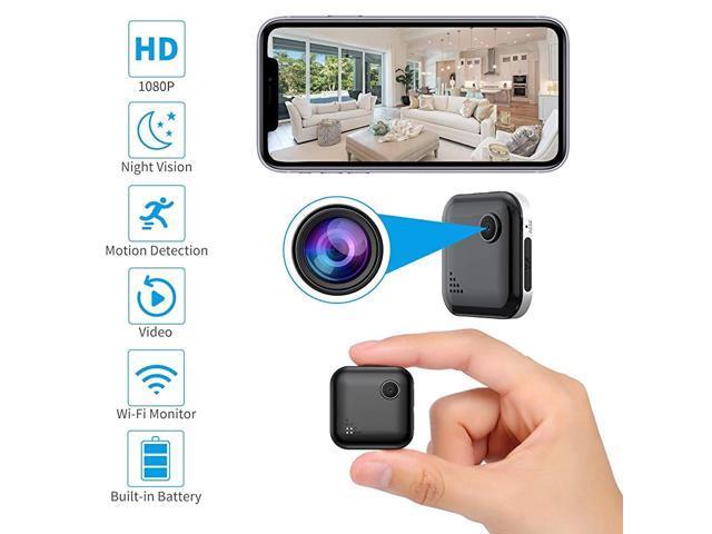 Home Security Camera Wifi Spy Camera Mini Hidden Camera Audio And Video Recording Small House Camera Dog Camerababy Monitornanny Cam Remote Control For Ios And Android Phone Newegg Com