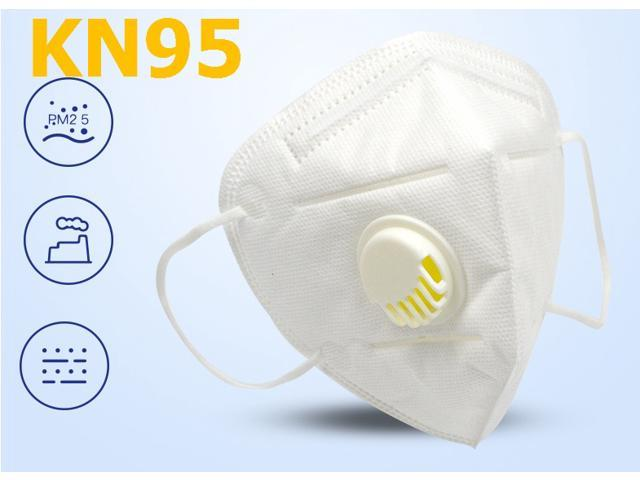 15 Pieces KN95 Mask JINJIANG Reusable Mask 5-layers - Valved Face Mask N95 FFP2 with breathing valve White