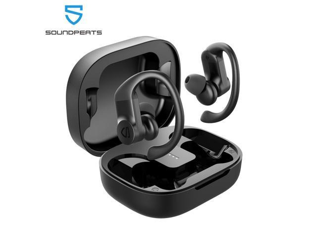 Soundpeats True Wireless Earbuds Over Ear Hooks Bluetooth Stereo Wireless Earphones With 13 6mm Driver Touch Control Ipx7 Waterproof For Sports Headphones Usb C Charge Newegg Com