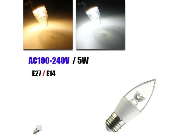 AC100-240V 4W RGB+White/&Warm White Intelligent Bulb E14 Base Socket Holder Zigbee Candle Lamp Supported Different Scenes Setting//Brightness Adjustable Dimmable//Color Temperature Changing//