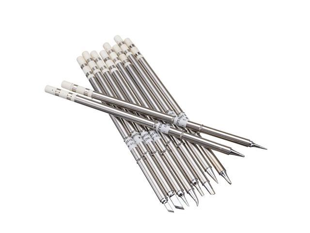 Drillpro 10pcs T12 Soldering Iron Tips Set for HAKKO FX951 FX952