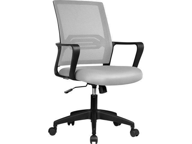 Gtplayer Office Chair Ergonomic Desk Chair Mesh Computer Chair Mid Back Mesh Home Office Swivel Chair Modern Executive Chair With Armrests Lumbar Support Gray Newegg Com