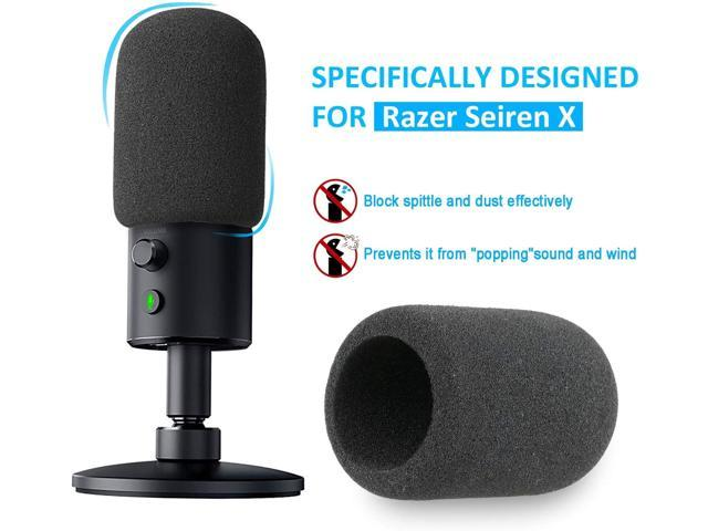 Professional Broadcast Boom Arm for Razer Seiren X Streaming Mic with Foam Windscreen by YOUSHARES Razer Seiren X Boom Arm Mic Stand with Pop Filter