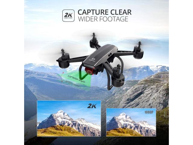 DEERC D50 FPV Drohne mit 2K Kamera HD 120/° FOV 1080P WiFi Live /Übertragung,RC Quadrocopter mit 2 Akkus Lange Flugzeit,H/öhenhaltung,Handy Steuerung,Tap Fly,Headless Modus,3D Flip f/ür Kinder Anf/änger