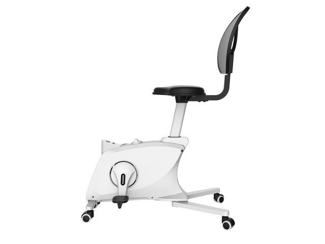 FlexiSpot Adjustable Exercise Workstation Bike Desk Chair Fitness Chair Standing Desk Cycle with Mesh Back Desk Chair