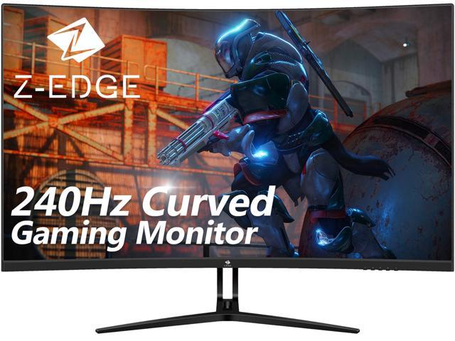 """Z-EDGE UG32P 32"""" 1080P Curved Gaming Monitor, 240Hz, 1ms, HDR, FreeSync(Adaptive Sync), HDMI x2, DisplayPort x1, USB x1, Built-in Speakers, with RGB Breathing Light"""