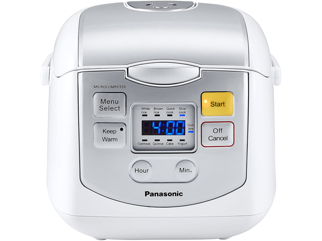 Image of Panasonic Rice Cooker 4-cup Microcomputer Controlled - White (SRZC075W) Comes With 1 Year Warranty