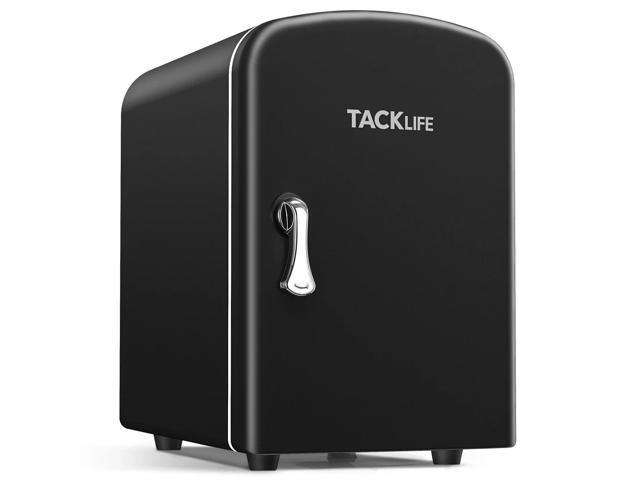 TACKLIFE F4 Mini Fridge 4 Liter AC/DC Portable Personal Fridge, Energy Saving Cooler and Warmer Refrigerator for Office, Car, Bedroom, 100% Freon-Free Great for Skincare, Fruit, Food, Medicine.