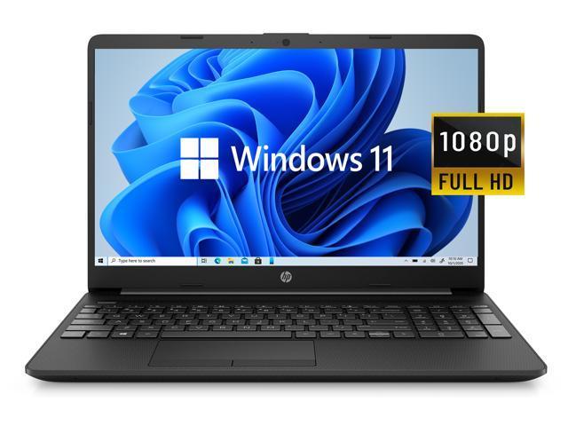 "2021 Newest HP Notebook 15 Laptop, 15.6"" Full HD Screen, Intel Celeron N4020 Processor, 8GB DDR4 Memory, 128GB SSD, Webcam, Type-C, RJ-45, HDMI, Windows 11 Home, Black"