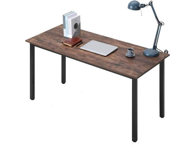 Bonzy Home 55 Inch Industrial Computer Desk, Writing Desk, Home Office Desk, PC Laptop Table, Simple Study Table,