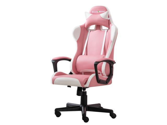 Bonzy Home Gaming Chair Computer Gaming Chair Ergonomic Racing Chair with Lumbar Support Arms Headrest High Back PU Leather Rolling Swivel Adjustable PC Computer Chair for Adults