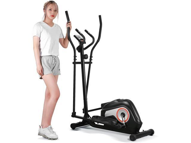 Elliptical Exercise Machine Adjustable Magnetic Elliptical Cross Trainer for Home Gym Indoor Fitness Workout Use