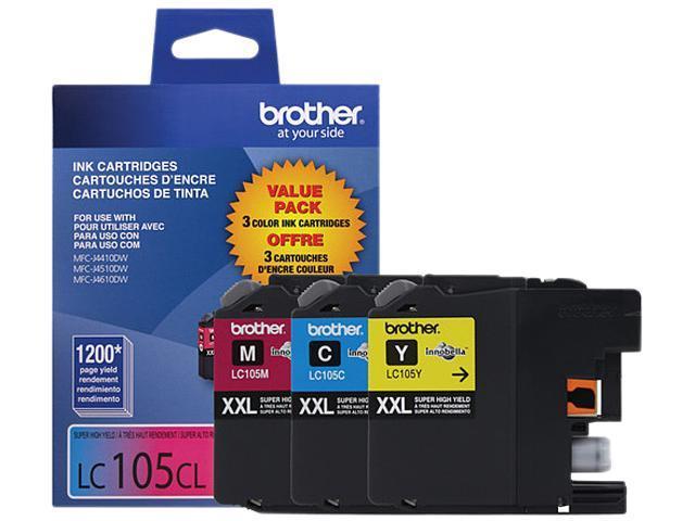 Brother LC1053PKS Super High Yield Innobella Ink Cartridge - Combo Pack - Cyan/Magenta/Yellow