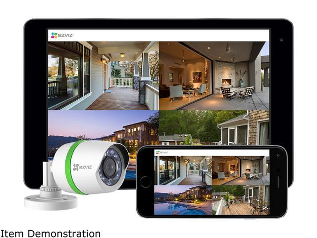EZVIZ Outdoor 3MP Video Security Surveillance System, 4 Weatherproof HD Cameras, 4 Channel 1TB DVR Storage, Night Vision, Motion Tracking, (BD-1434B1)
