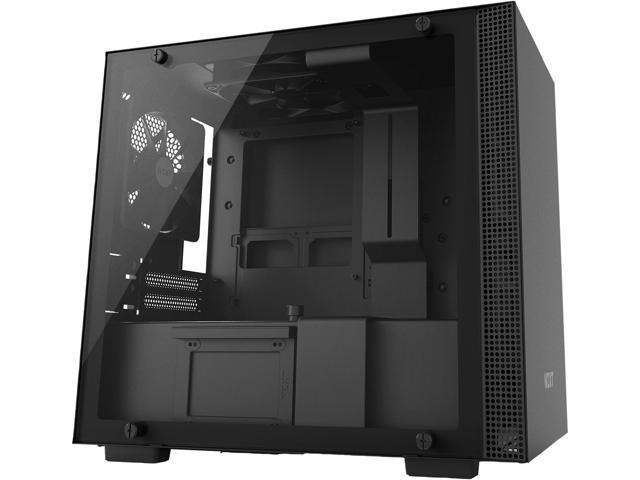 NZXT H200 - Mini-ITX PC Gaming Case - Tempered Glass Panel - All-Steel Construction - Enhanced Cable Management System - Water Cooling Ready - Black