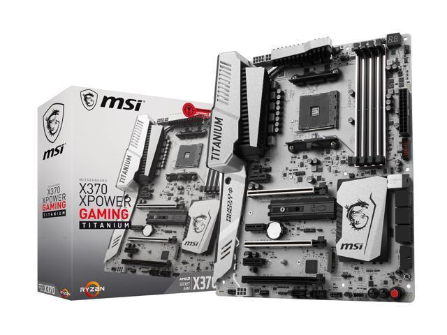 MSI X370 XPOWER GAMING TITANIUM AM4 AMD X370 SATA 6Gb/s USB 3.1 HDMI ATX AMD Motherboard