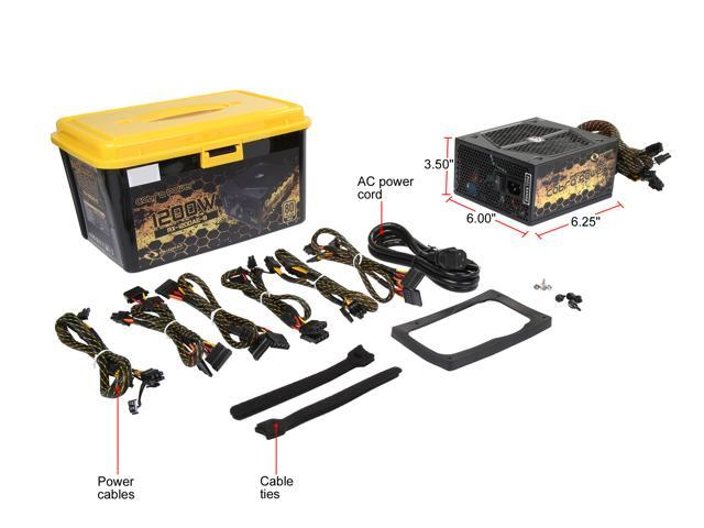 RAIDMAX Cobra series RX-1200AE-B 1200W ATX 12V v2.3 / EPS 12V SLI Ready CrossFire Ready 80 PLUS GOLD Certified Modular Power Supply
