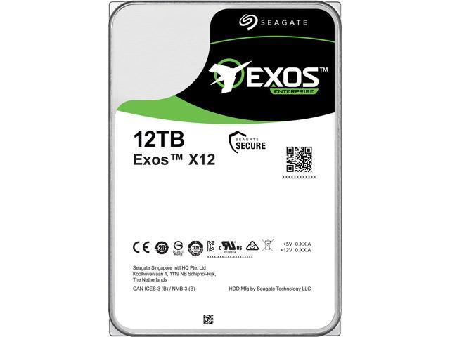 Seagate Exos Enterprise Capacity ST12000NM0007 12TB 7200 RPM SATA 6Gb/s 256MB Enterprise Hard Drive (Helium & 3.5 inch) - OEM