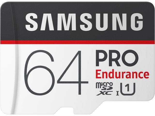 SAMSUNG 64GB PRO Endurance microSDXC UHS-I/U1 Memory Card with Adapter, Speed Up to 100MB/s (MB-MJ64GA/AM)