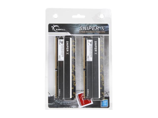 G.SKILL Sniper X Series 32GB (2 x 16GB) 288-Pin DDR4 SDRAM DDR4 3200 (PC4 25600) Intel X299 / Z370 / Z270 / Z170 Desktop Memory Model F4-3200C16D-32GSXKB