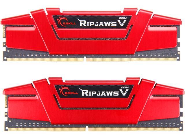 G.SKILL Ripjaws V Series 16GB (2 x 8GB) 288-Pin DDR4 SDRAM DDR4 3000 (PC4 24000) Desktop Memory Model F4-3000C16D-16GVRB