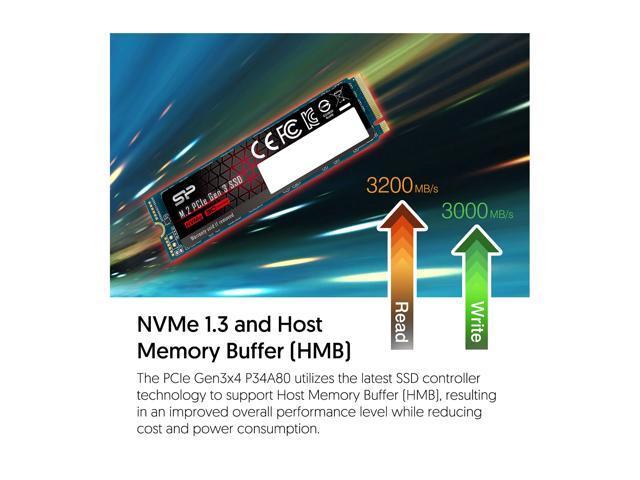Silicon Power 2TB NVMe M.2 2280 PCIe Gen3 x4 TLC R/W up to 3,400/3,000 MB/s SSD (SP002TBP34A80M28)