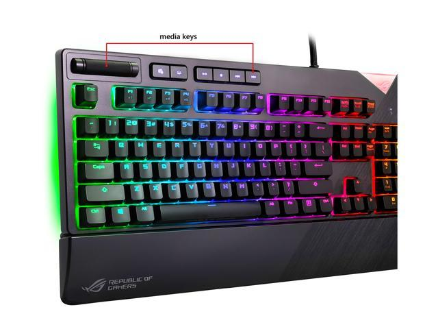 ASUS ASUS ROG Strix Flare Call of Duty: Black Ops 4 Edition Mechanical Gaming Keyboard with Cherry MX Speed Silver Switches, Aura Sync RGB Lighting, Customizable Badge, USB Pass-Through and Media Controls